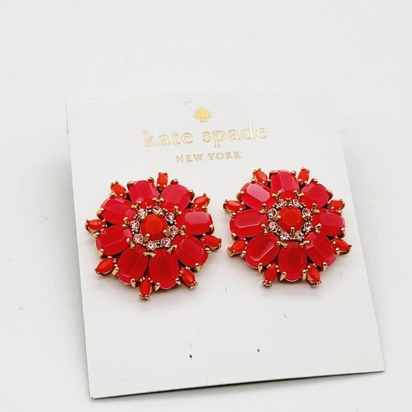 Kate Spade trellis blooms earrings